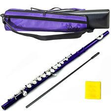 Metallic Purple Flute w Silver Keys 2016 New Model Case Bag Accessories