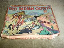 Vintage Red Indian Headdress Outfit Cowboy Childs Dressing Up Game Berwick 1950s
