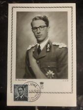 1956 Woluwe  Belgium Maxi Postcard Cover Baudouin I King Of Belgium B