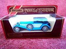 MATCHBOX MODELS OF YESTERYEAR Y16 1928 MERCEDES BENZ  S.S. UNOPENED BOX 1984