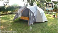 Coleman Bayside 6-Person Family Dome Camping Tent - Orange/ Grey USED