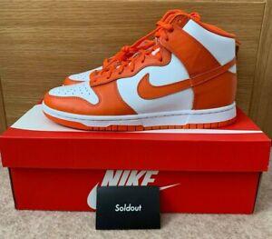 Nike Dunk High Retro Syracuse 2021 UK7.5 US8.5 EUR42 DD1399 101 White Orange