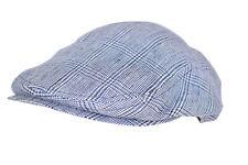 Wigens NWT Pub Cap in Khaki w// Blue /& White Paisley Design Size 59 7 /& 3//8ths