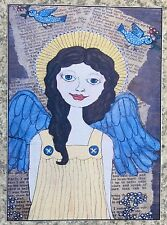 Faithful Angel ACEO Print Reproduction Of Original Painting Angels Collectible