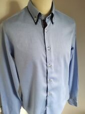 Zara Mens Smart Formal Blue Shirt Size L Stylish/Occasion