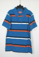 Wrangler Short Sleeve Blue Striped Polo Shirt Boy's/ Kid's Size Medium 8 NWOT M