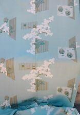 Vtg 1950s Silk and Metallic Screenprint Fabric Mid Century Asian Decor 4 Yds