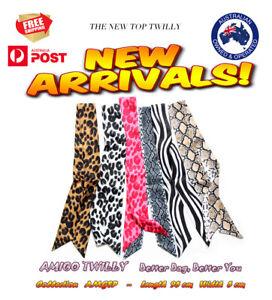 NEW Leopard Boa Animal AMIGO Multi-Use Mini Scarf Twilly Bag Handle Wrap JJSP