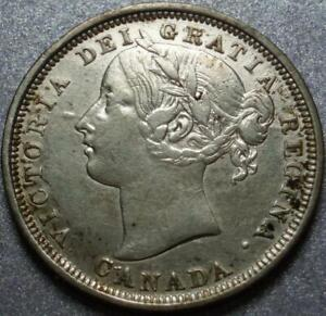 1858 PROVINCE of CANADA .925 Silver TWENTY CENT or 20¢ Piece, ONLY Year of ISSUE