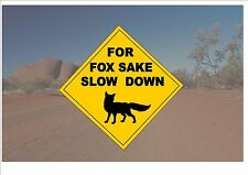 Segnale STRADALE stile australiano Australia Cartello Stradale novità divertente Fox OUTBACK sign