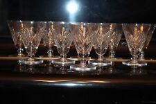 Ensemble de 10 verres à apéritif en cristal de Saint Louis  modèle ASTRID