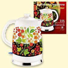 """Design Porzellan Wasserkocher """"Chochloma"""" 2L elektrische Teekanne Keramik фарфор"""