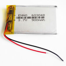 3.7V 900mAh 603048 Li po Polymer li ion Rechargeable Battery For GPS PSP mp3 PAD