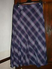 Blue Check Skirt by Per Una @ M&S Collection Size 14R