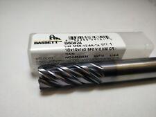 "Bassett 52423  1//2/"" 2-Flute Double End Carbide Endmill USA Made New"