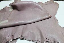 Italian thick Lambskin leather skins hides GRAINY VINTAGE BOIS DE ROSE 5+sqf