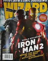 Wizard Comic Magazine February 2010 - Iron Man 2 Movie - No Label - VF