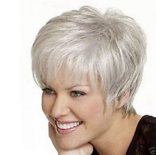 Fashion Charm ladies short mix Brown Blonde Natural Hair Full wigs+wig