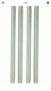 """2 Packs Westinghouse 7061300 - 6"""" Nipples, Zinc-Plated ( 2 Per Package)"""