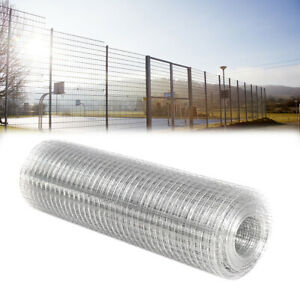 15/30M Galvanised Welded Wire Mesh Roll Chicken Run Rabbit Fencing Aviary Fence