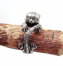 Marmoset Monkey Ring, Silver Ring, Marmoset Jewelry, Little Monkey Ring, Rings