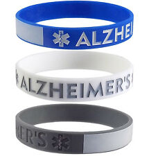 ALZHEIMER'S Medical Alert ID with Writeable Area Bracelets (3 Pack)