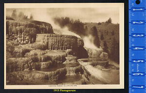 CLEOPATRA TERRACE YELLOWSTONE NATIONAL PARK 1915 Mentor Gravure