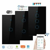 Smart Wifi Light Switch Alexa Google Home IFTTT Wall Glass Touch Screen Voice C
