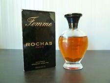 VINTAGE ROCHAS FEMME 100ml EAU DE TOILETTE NATURAL SPRAY SLIGHTLY USED RARE LOOK