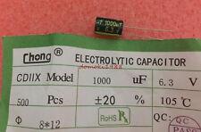 10 PCS New 1000UF 6.3V Radial Electrolytic Capacitor 8X12