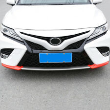 2XABS Red Carbon Fiber Style Front Bumper Corner Trim  for Toyota CAMRY 2018