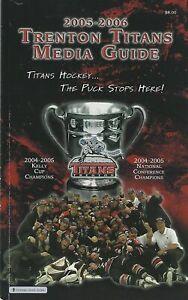 2005-06 Trenton Titans ECHL Minor League Hockey Media Guide - Defunct #FWIL