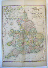 England and Wales: antique map by Pigot & Co, c1840
