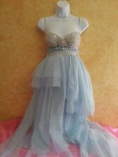 Something Blue Sex & The City Carrie Style Boho Babydoll Tulle Tutu Dress Party