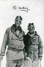 SIR ED HILLARY & SHERPA TENZING signed 12x8 EVEREST 1953 expedition signed 12x8