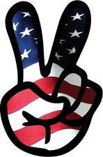 Peace American Flag  symbol sign decal bumper sticker USA 7inch