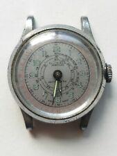 Vintage Sheffield Swiss Telemeter Chronograph Military Watch Movement