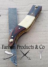 Forseti Steel Throat Cutter Handmade Damascus Steel Straight Razor