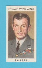 MILITARY - JOSEPH LINGFORD - BRITISH WAR LEADERS CARD - VISCOUNT  PORTAL  - 1950