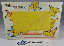 New Nintendo 3DS XL Pokemon Pikachu Yellow Edition (NA USA Version) NEW IN-