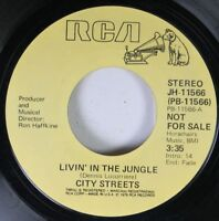 Soul Promo 45 City Streets - Livin' In The Jungle / Livin' In The Jungle On Rca