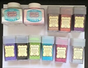 HUGE Lot of 21 Extra Fine Recollections Glitters - Big Bottles - Please Read
