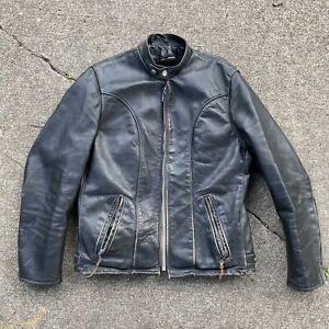 Vintage Schott Cafe Style Racer Leather Jacket Medium