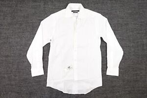 SEAN JOHN WOVEN WHITE 15 32 33 TAILORED FIT DRESS BUTTON FRONT SHIRT MENS NWT