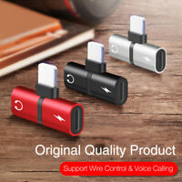 Headphone Adapter for iPhone11 8 X Splitter Dual Lightning connector Accessories