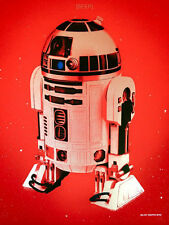 """Blunt Graffix """"Beep"""" Star Wars Imperial Red R2D2 limited edition screen print"""
