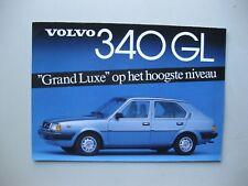 Volvo 340GL folder brochure Prospekt Dutch text 6 pages 1984