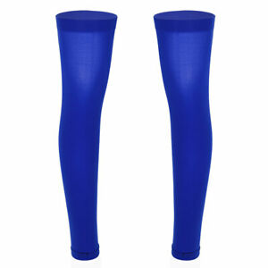 Men's Thigh High Knee Brace Calf Support Stockings Footless Stretchy Long Socks