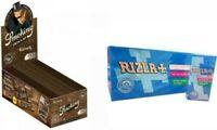 3000 CARTINE SMOKING BROWN CORTE MARRONI + 2400 FILTRI RIZLA ULTRA SLIM 5.5 mm