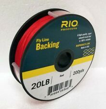 RIO 20 LB 200 YARDS DACRON BACKING IN RED FLY REEL BACKING - FREE US SHIP